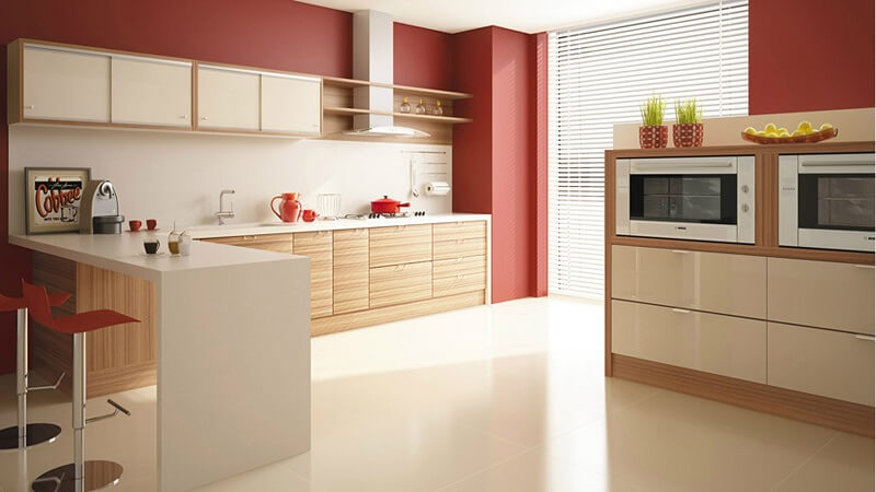 Cozinha em cores terrosos
