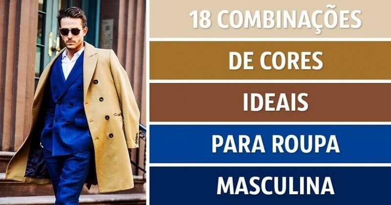 Tendências de cores masculinas